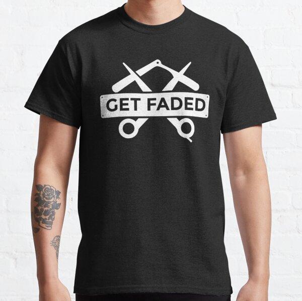 Obtenga un regalo de cotización de corte de pelo Faded Razor Barbers Camiseta clásica