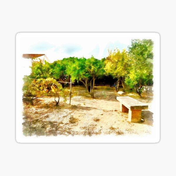 Arzachena: vegetable garden Sticker