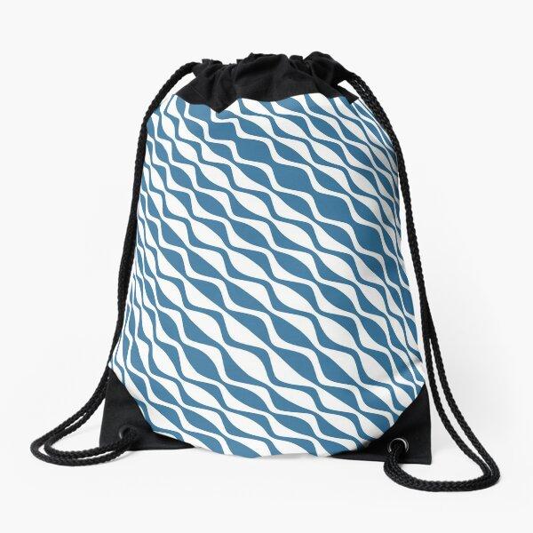 Diagonal Rippling Drawstring Bag