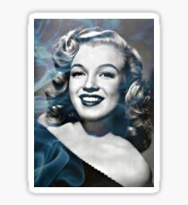 Marilyn Monroe with a bit of smoke Sticker