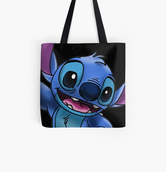 Experiment 626 (Stitch) Zoomed In All Over Print Tote Bag