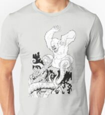 Gorilla/Tentacle Fight! Unisex T-Shirt