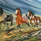 Morning Mustang Run by WildestArt