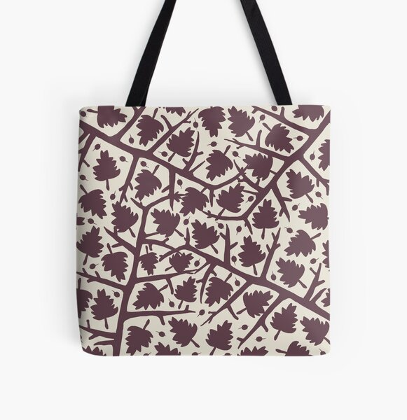 Hawthorn Tree pattern All Over Print Tote Bag