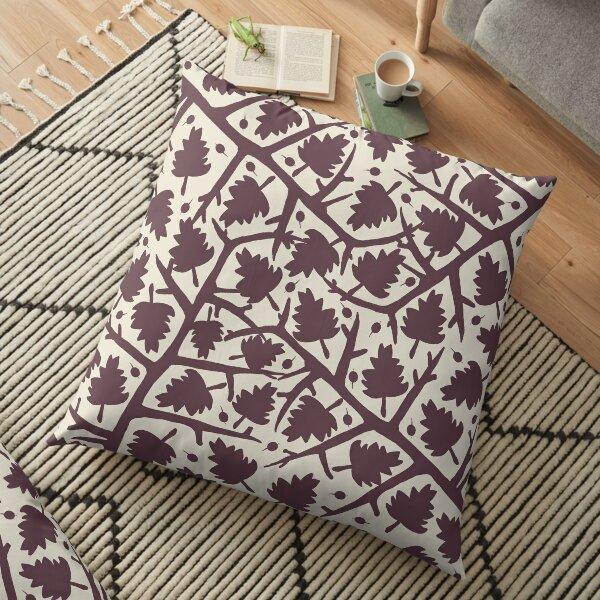 Hawthorn Tree pattern Floor Pillow