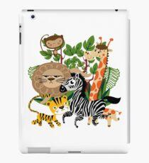 Wild Animals Zoo Animals Giraffe Zebra Lion iPad Case/Skin