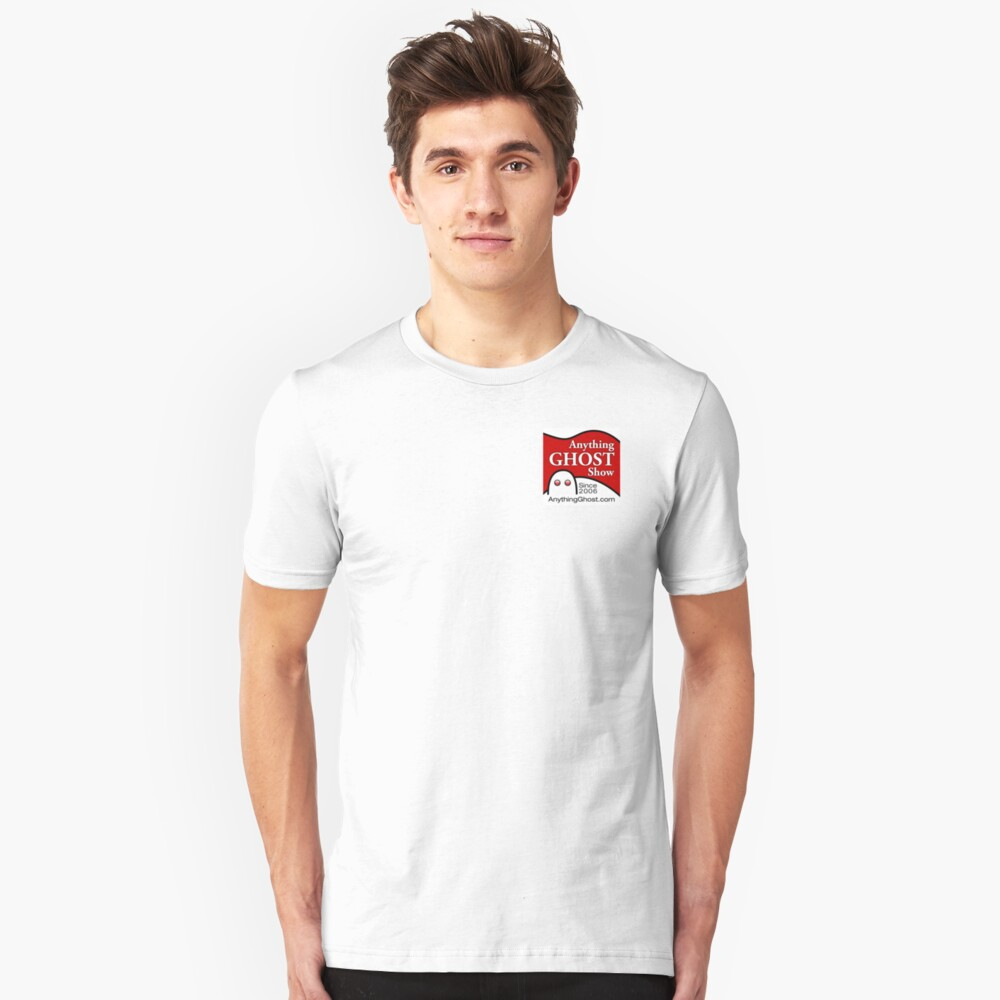 Anything Ghost Black and Red Logo Unisex T-Shirt Front