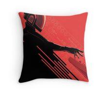 DJ space music Throw Pillow