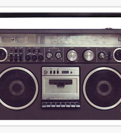 80s Retro Boombox Sticker