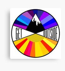 Get Outside | Mountain & Sun Canvas Print