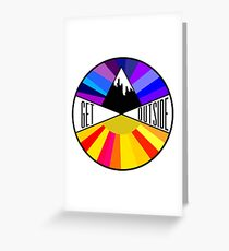 Get Outside | Mountain & Sun Greeting Card