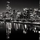 Melbourne City views from Southbank by Norman Repacholi