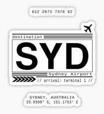 Sydney Flughafen Sticker
