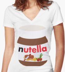 nutella Women's Fitted V-Neck T-Shirt