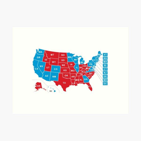 2020 US Election Results - Joe Biden Art Print