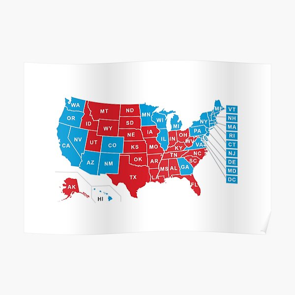 2020 US Election Results - Joe Biden Poster