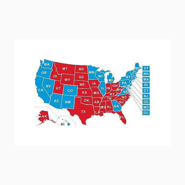 2020 US Election Results - Joe Biden Photographic Print
