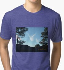 Christmas Eve Snow Angels Windows From Heaven Tri-blend T-Shirt