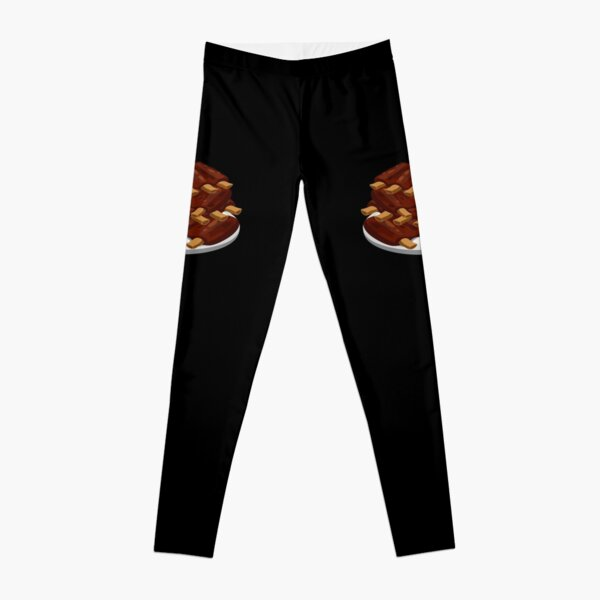 Spare Ribs (black background) Leggings