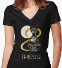 Hocus Pocus Cat Spell - Just. Like. This! Women's Fitted V-Neck T-Shirt