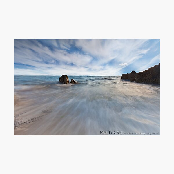 Whistling Sands, Porth Oer Photographic Print