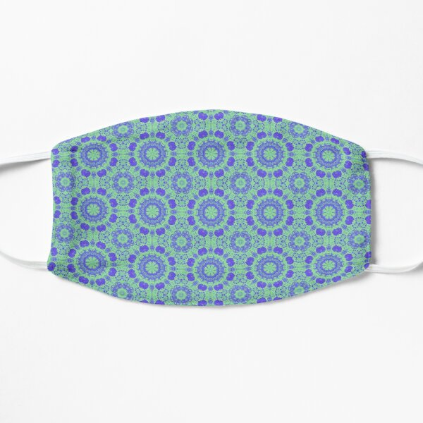 Duotone Blue-Green Pattern Mask
