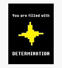 UNDERTALE - DETERMINATION T-SHIRT (SAVE POINT) Photographic Print