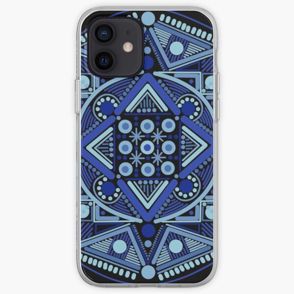 Number Six in Blues Black iPhone Soft Case