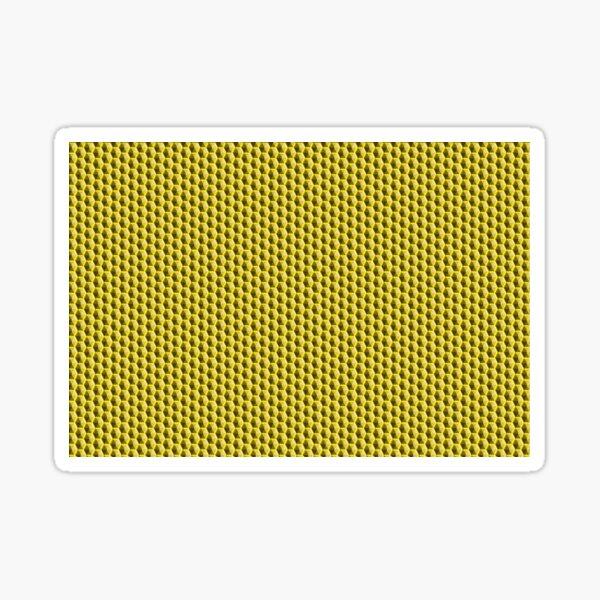 Lemon Yellow Honeycomb  Sticker
