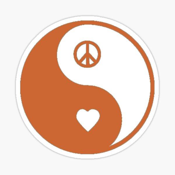 Love and Peace Logo by Nigel of tunnelmental Sticker