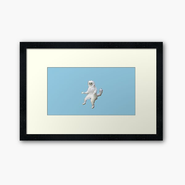 persian cat room guardian  Framed Art Print
