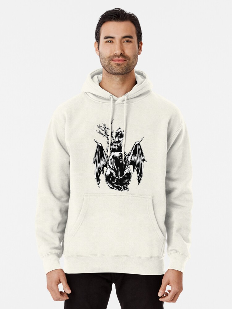 Alternate view of Kami with folded wings Pullover Hoodie