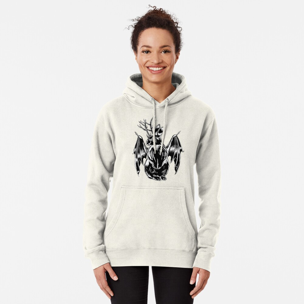 Kami with folded wings Pullover Hoodie