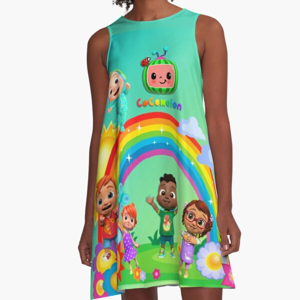 Cocomelon Kids Song Rhymes Music A-Line Dress