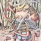 Samurai Octopus by Byron  McBride