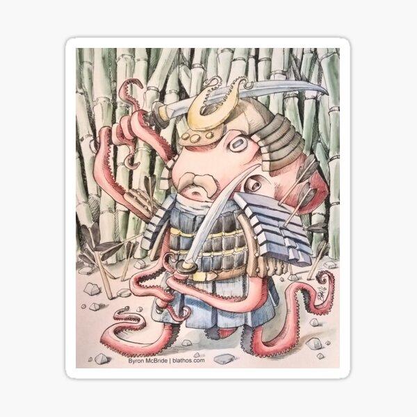 Samurai Octopus Sticker