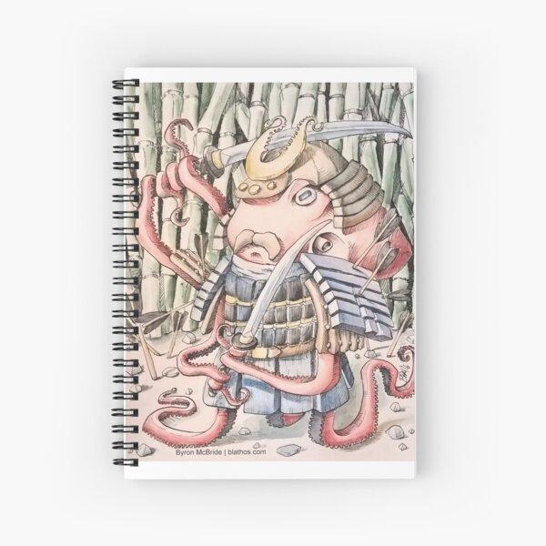 Samurai Octopus Spiral Notebook