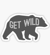 Get Wild Bear Sticker