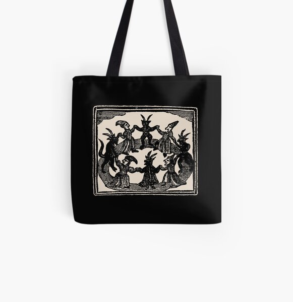 Witches Circle Dance All Over Print Tote Bag