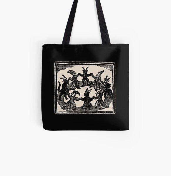 Cherry Skull Tote Bag Handbag Purse Womens Gothic Goth Horror Red Green Zip Up
