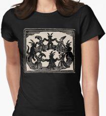 Witches Circle Dance Tailliertes T-Shirt für Frauen