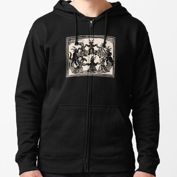 Witches Circle Dance Zipped Hoodie