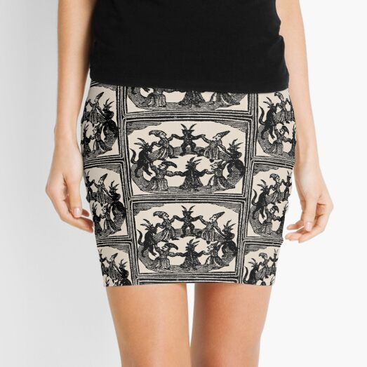 Witches Circle Dance Mini Skirt