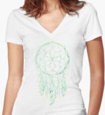 Dream Catcher Acid Women's Fitted V-Neck T-Shirt