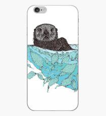 Vinilo o funda para iPhone Sea Otter Sketch Color
