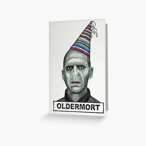 oldermort Birthday Card, HORROR cards, Funny Birthday Card, Oldermort Greeting Card, Funny DARK Birthday Card,Ghost Face, Birthday Feast, birthyear Greeting Card