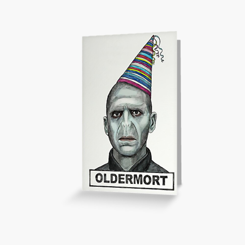 oldermort Birthday Card, HORROR cards, Funny Birthday Card, Oldermort Greeting Card, Funny DARK Birthday Card,Ghost Face, Birthday Feast,Happy Friendship Day Greeting Card