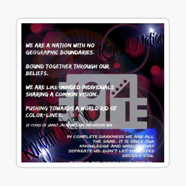 Rhythm Nation 1814 Sticker