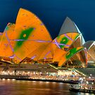 Luminous Opera House, Cahill Expressway Perspective by Erik Schlogl