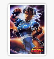 Chun-Li Street Fighter 2 Fan print Sticker